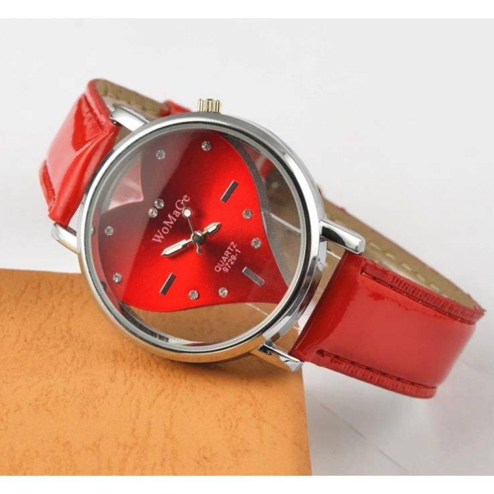 Женские Часы наручные WoMaGe красные 3181
