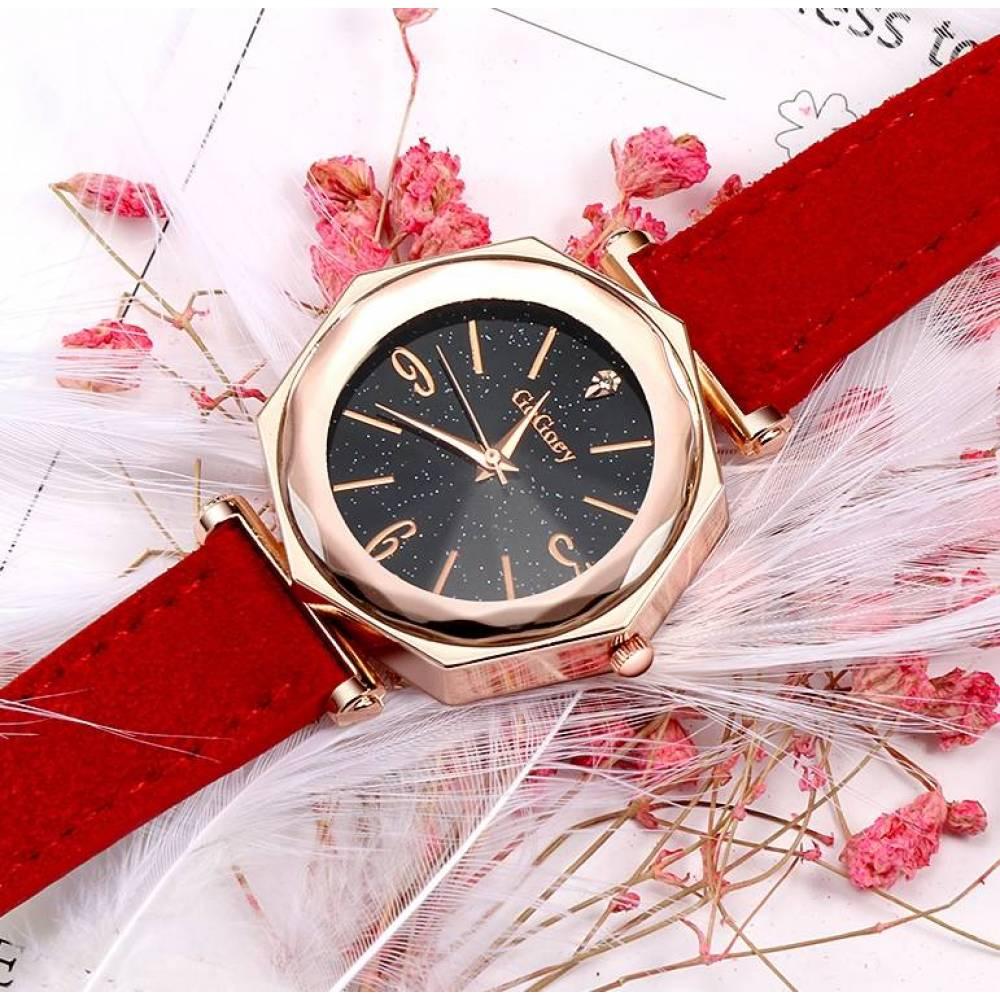 Женские Часы наручные Gogoey красные 3182