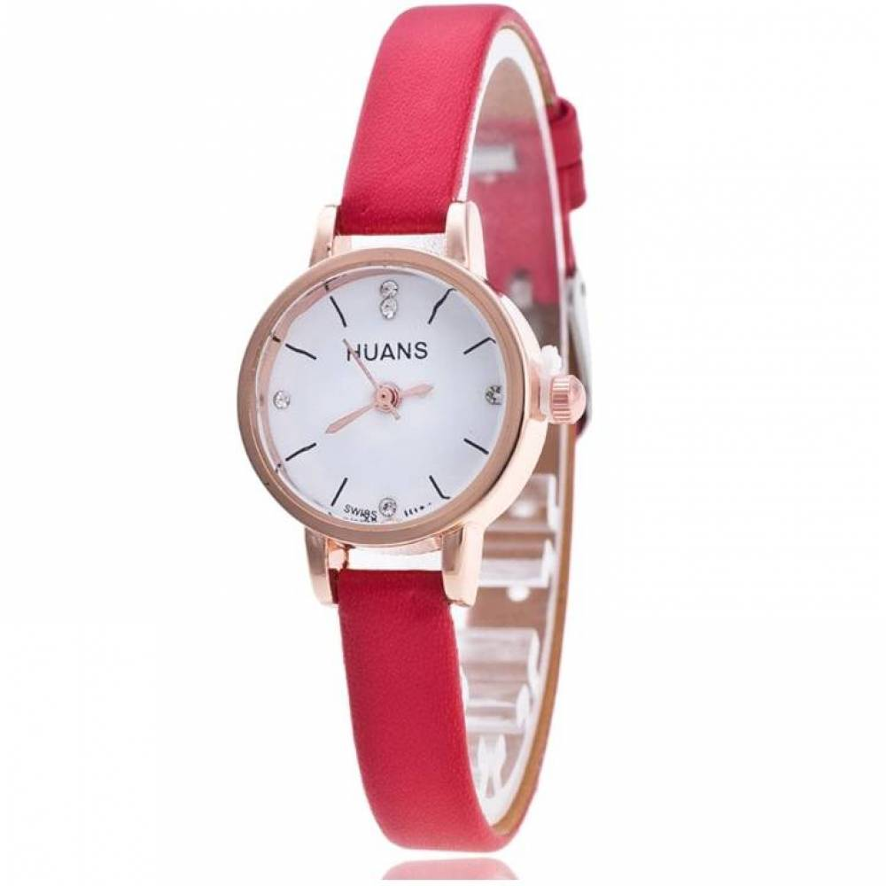 Женские Часы наручные Huans красные 3186