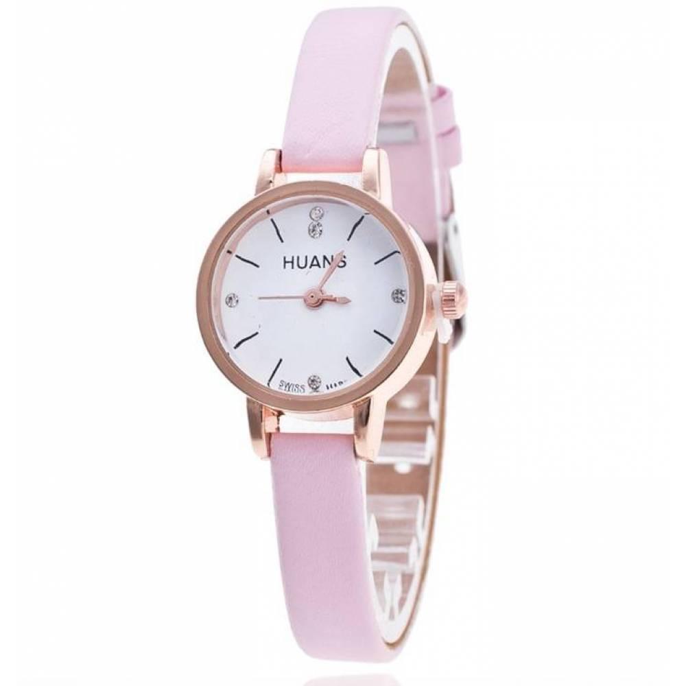 Женские Часы наручные Huans розовые 3187