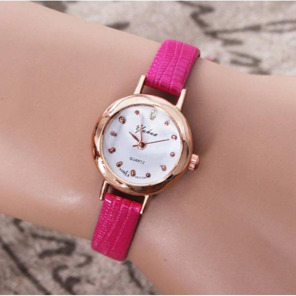 Женские Часы наручные Jw , розовые 3198