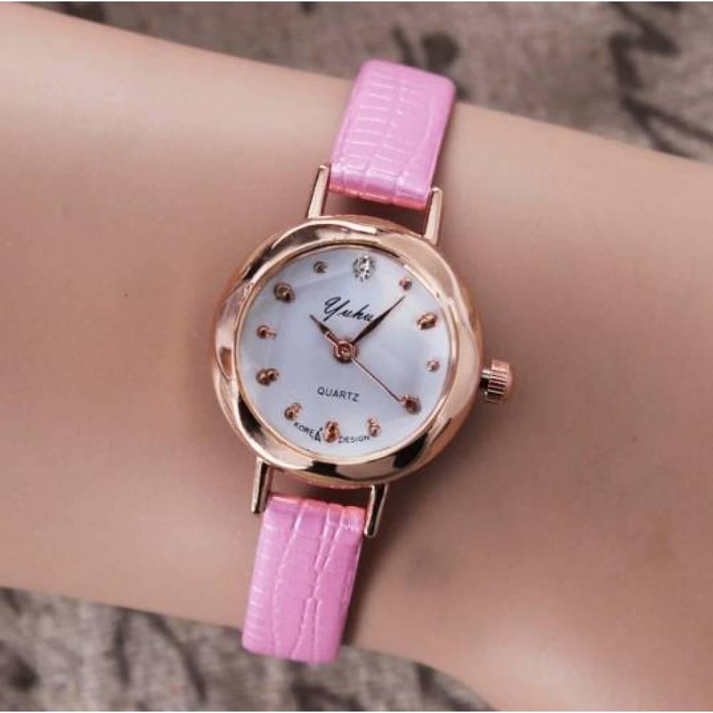 Женские Часы наручные Jw розовые 3200