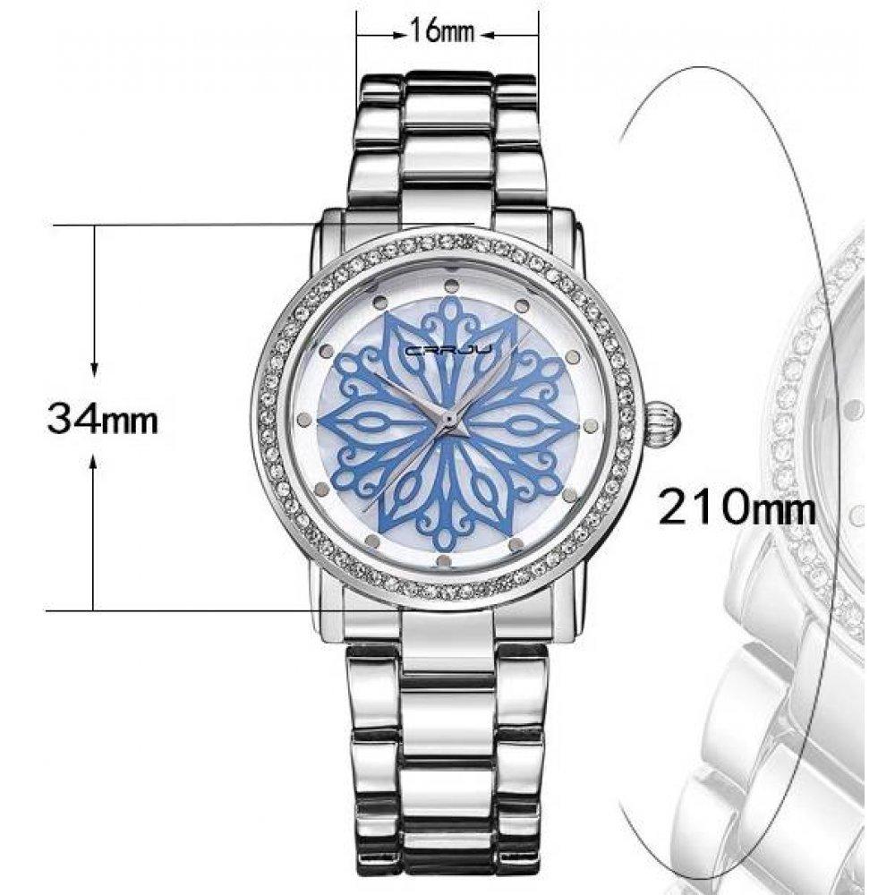 Женские Часы наручные Crrju,золотистые 3208