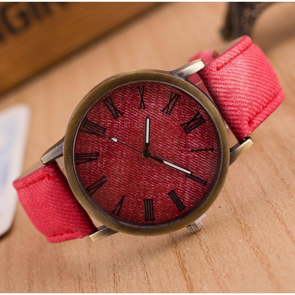 Женские Часы наручные Jw красные 3212