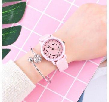 Женские Часы наручные  Cartoon розовые 3217