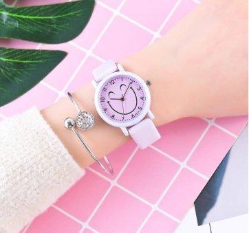 Женские Часы наручные Cartoon, фиолетовые 3219