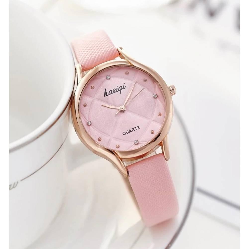 Часы наручные женские Jw, розовые 3224