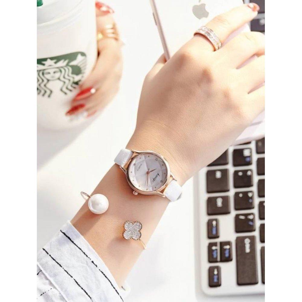 Женские Часы наручные Jw, белые 3226