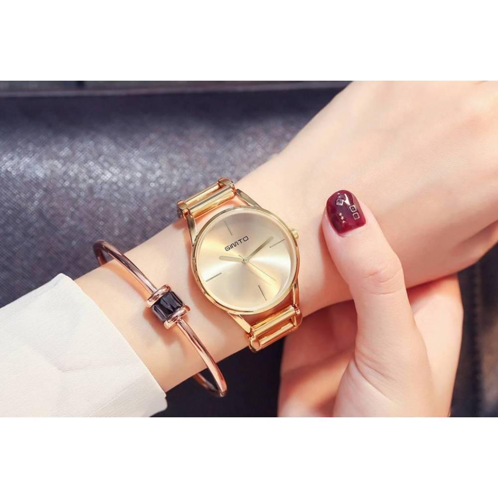 Женские Часы наручные Gimto, золотистые  3234