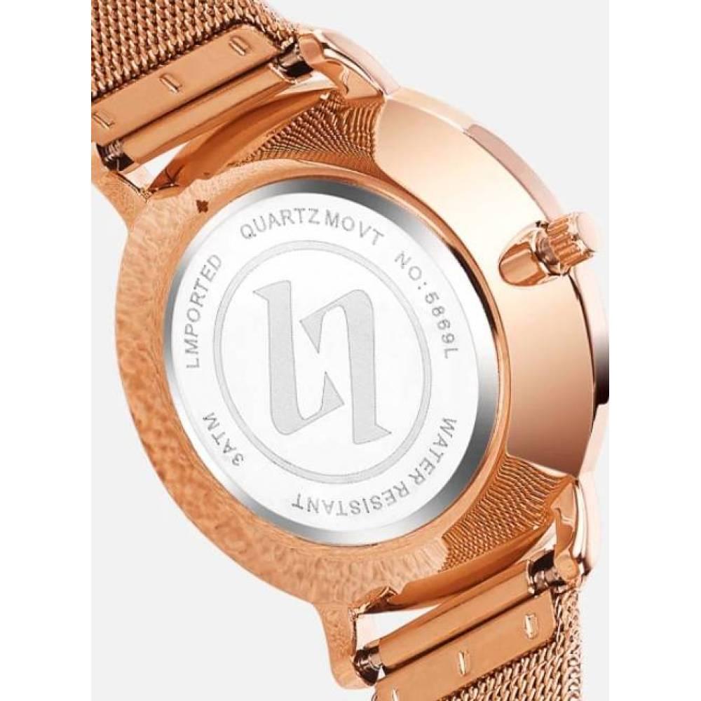 Женские Часы наручные Olevs, золотистые  3251
