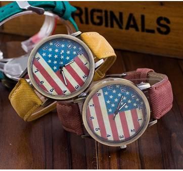 Женские Часы наручные Vansvar, американский флаг  3277