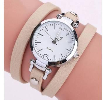 Женские Часы наручные CCQ, бежевые 3279