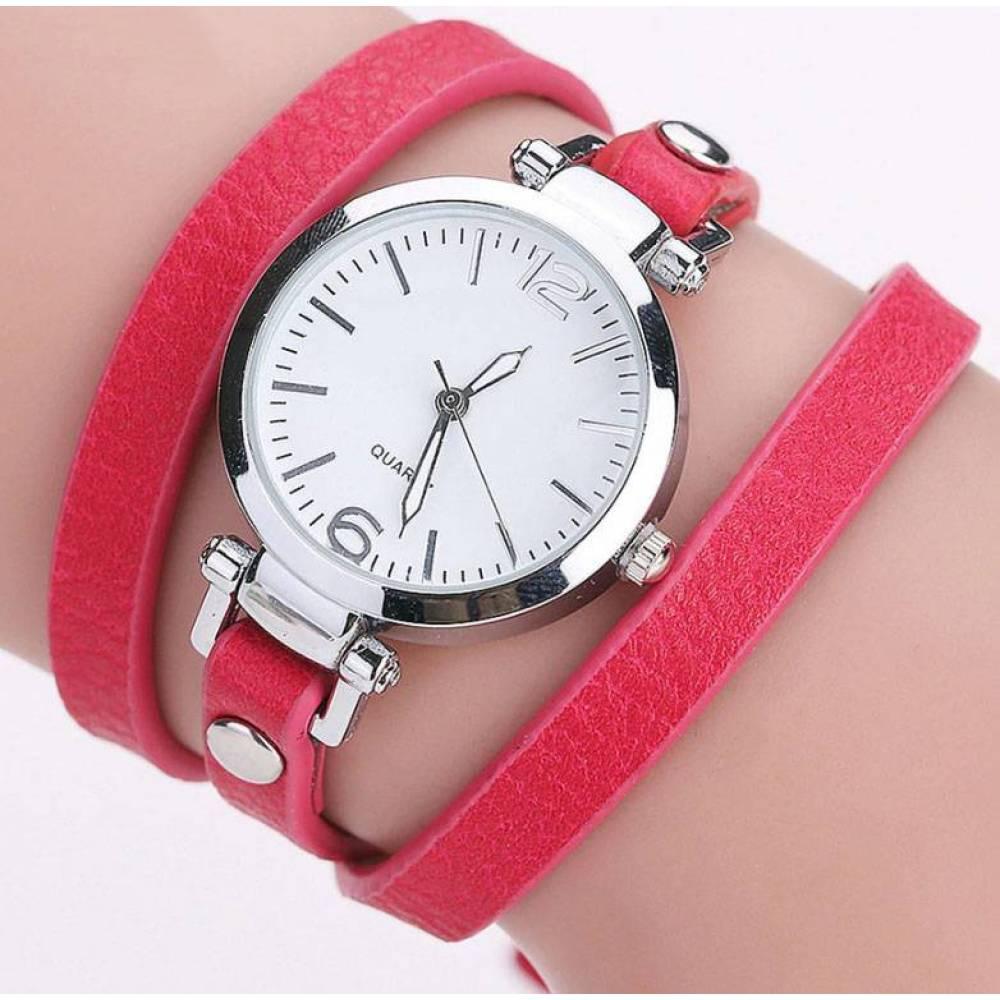 Женские Часы наручные CCQ, красные 3280