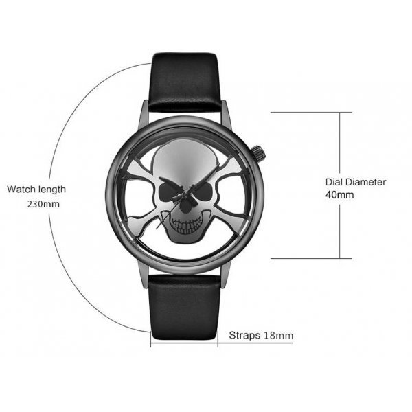 Часы GEEKTHINK череп 3289
