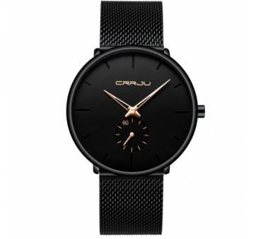 Мужские Часы наручные CRRJU, черные  3563