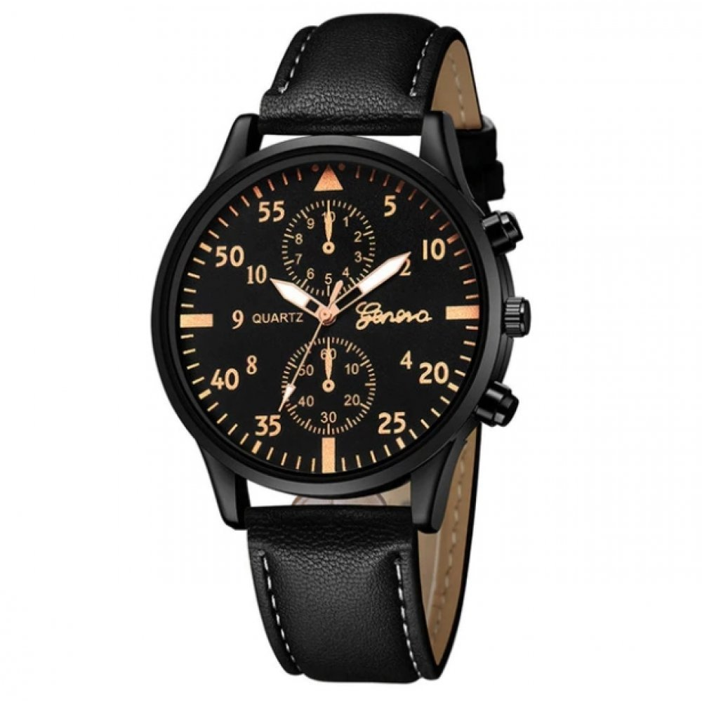 Мужские Часы наручные Duobla, черные  1005