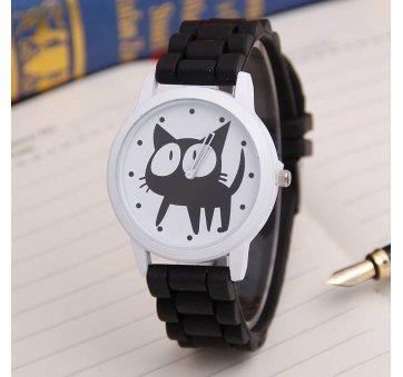 Женские Часы наручные JEANE CARTER с кошкой, черные  3513