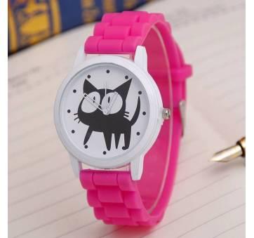Женские Часы наручные JEANE CARTER с кошкой, розовые  3514