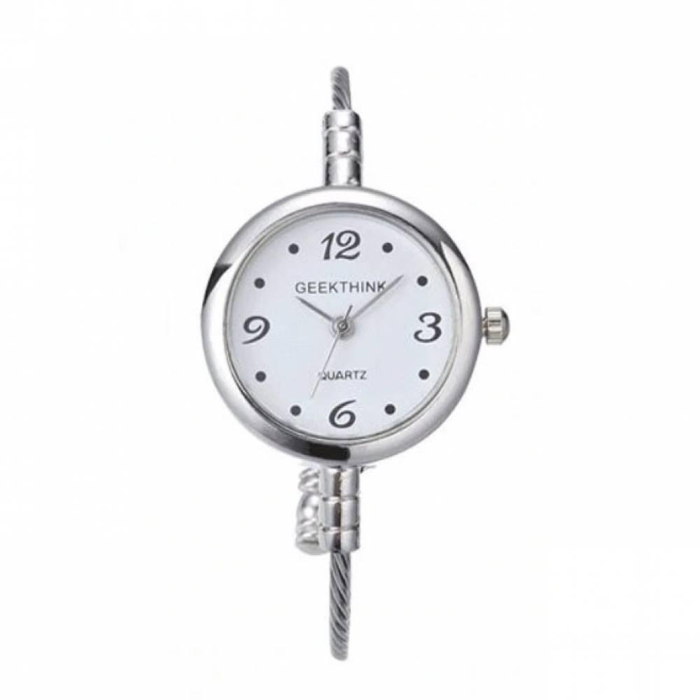 Женские Часы наручные Geekthink, серебристые  3565