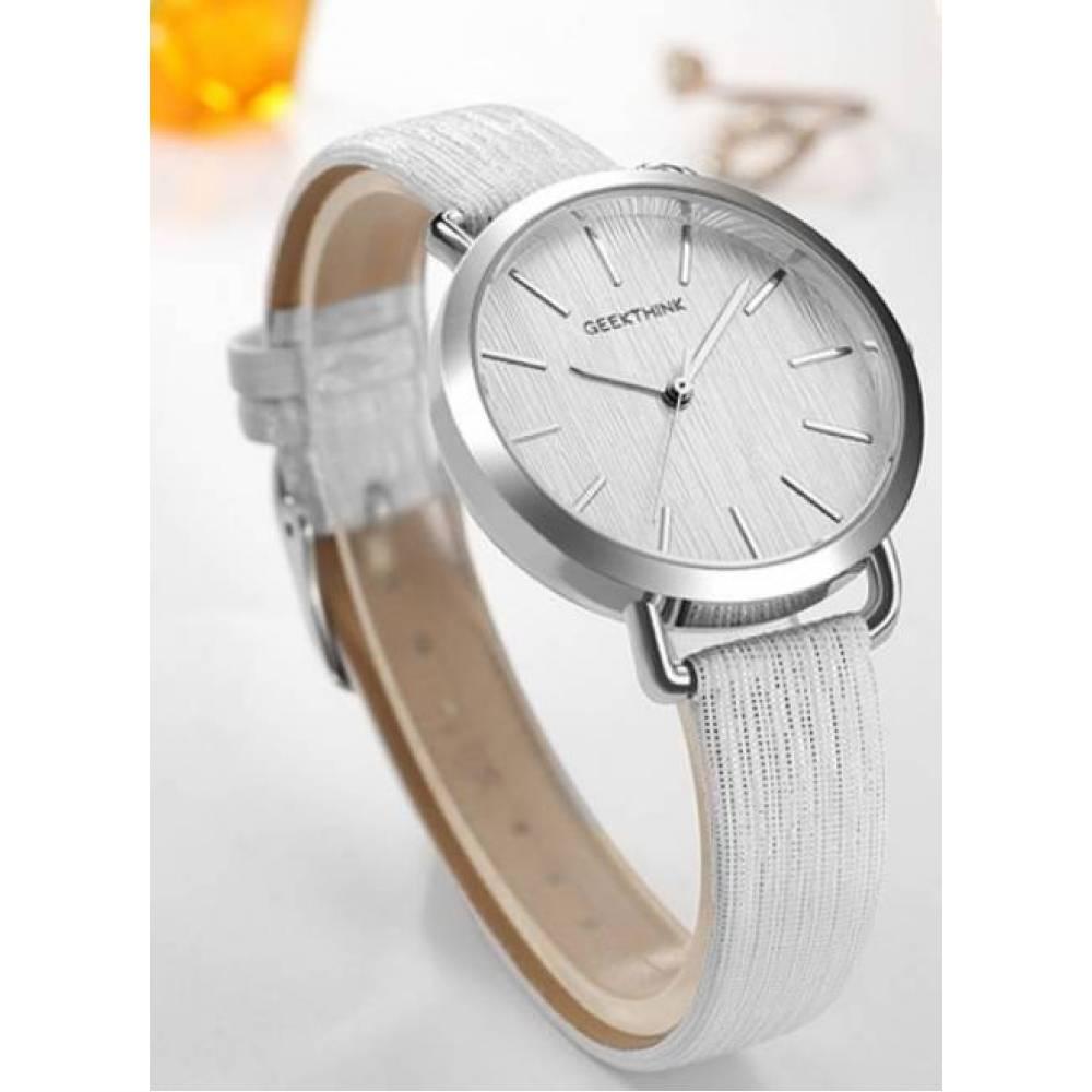 Женские Часы наручные Geekthink, белые   3572