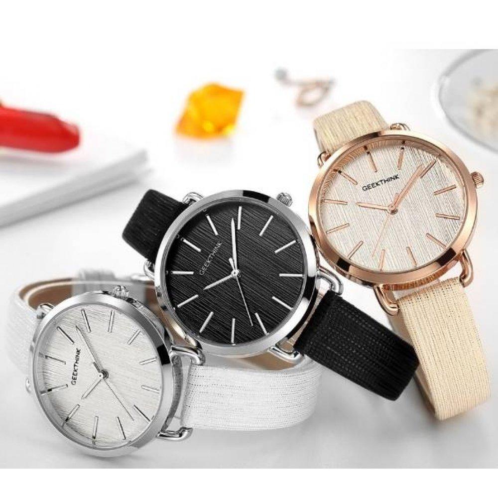 Женские Часы наручные Geekthink, золотистые  3574