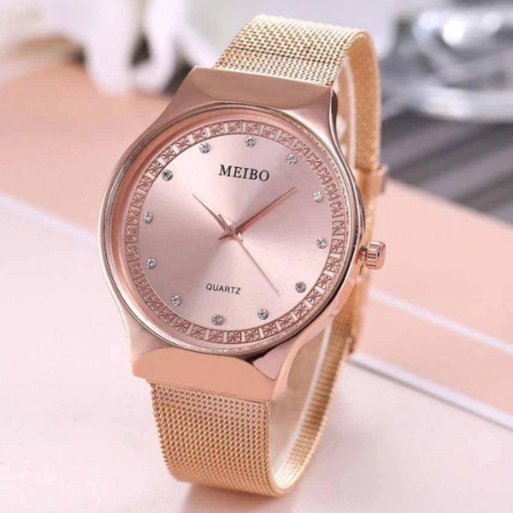 Женские Часы наручные MEIBO, золотистые  3633