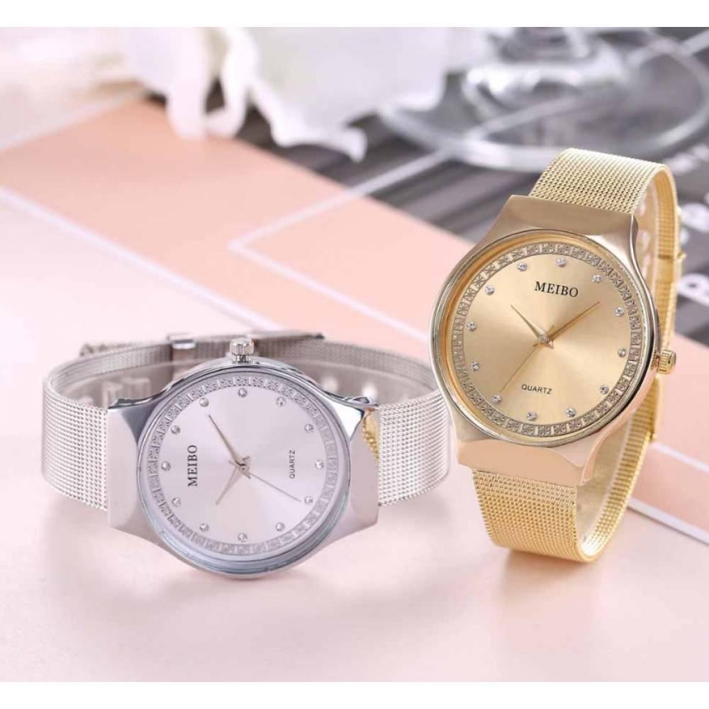 Женские Часы наручные MEIBO, серебристые  3635