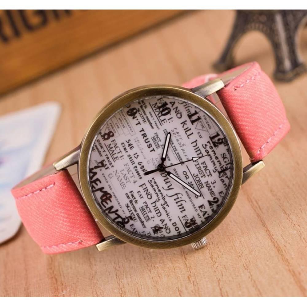 Женские Часы наручные JW, розовые  3641