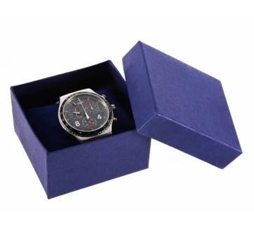 Коробка синяя для часов органайзер, упаковка 3526