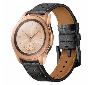 Ремешки для часов Ремешок кожаный Susenstone, черный  3868