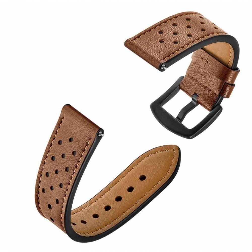 Ремешок кожаный Susenstone, коричневый  3869