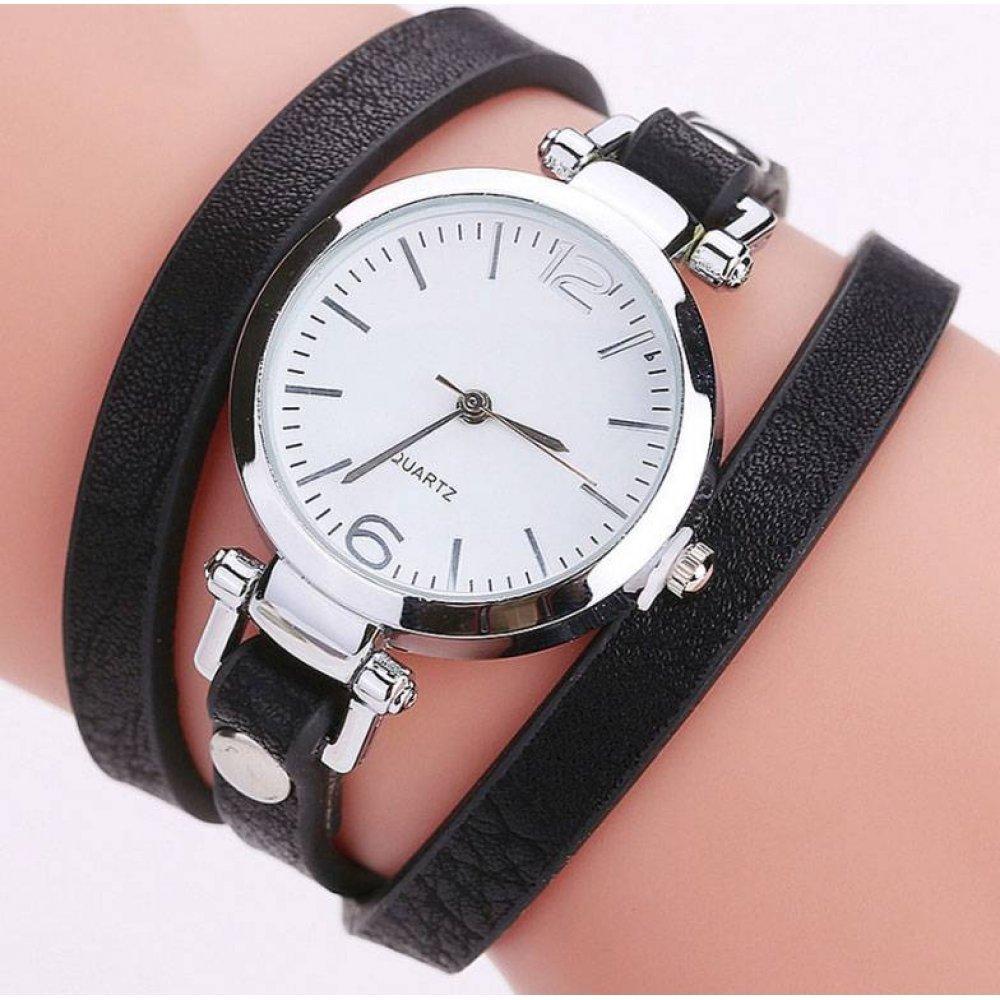Женские Часы наручные CCQ, черные  3732