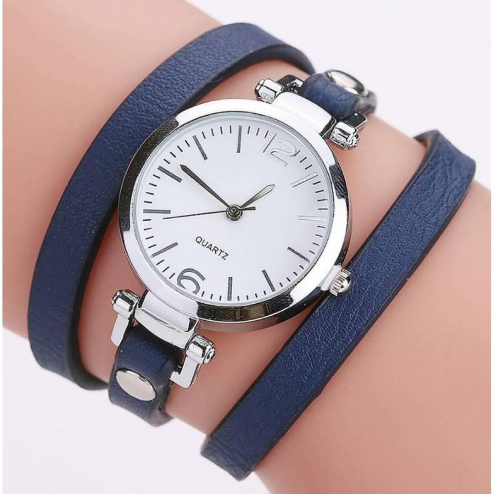 Женские Часы наручные CCQ, синие  3733