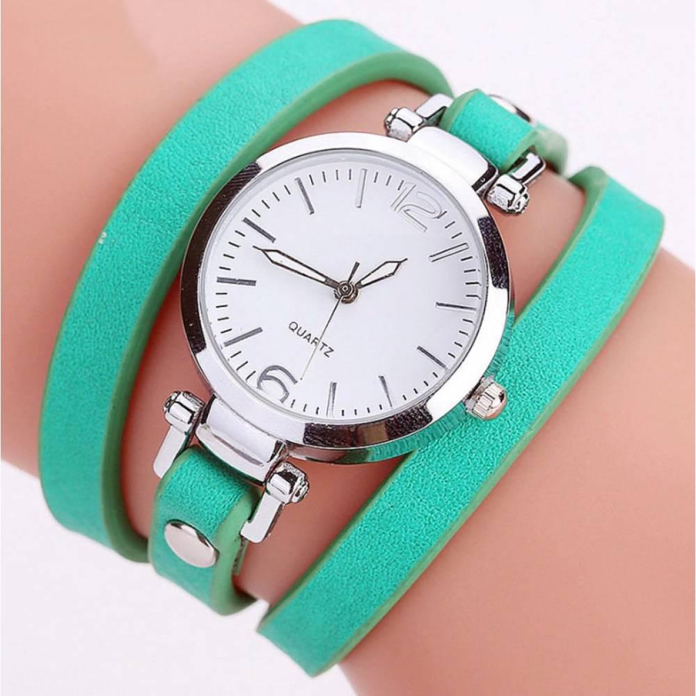 Женские Часы наручные CCQ, зеленые 3734