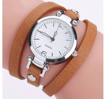 Женские Часы наручные CCQ, коричневые 3735