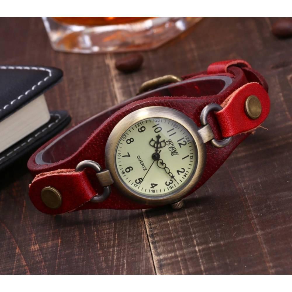 Женские Часы наручные CCQ, красные  3745