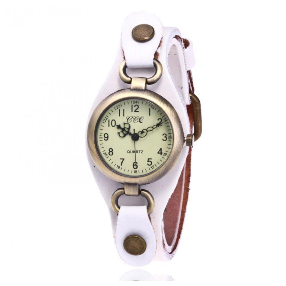 Женские Часы наручные CCQ, белые  3746