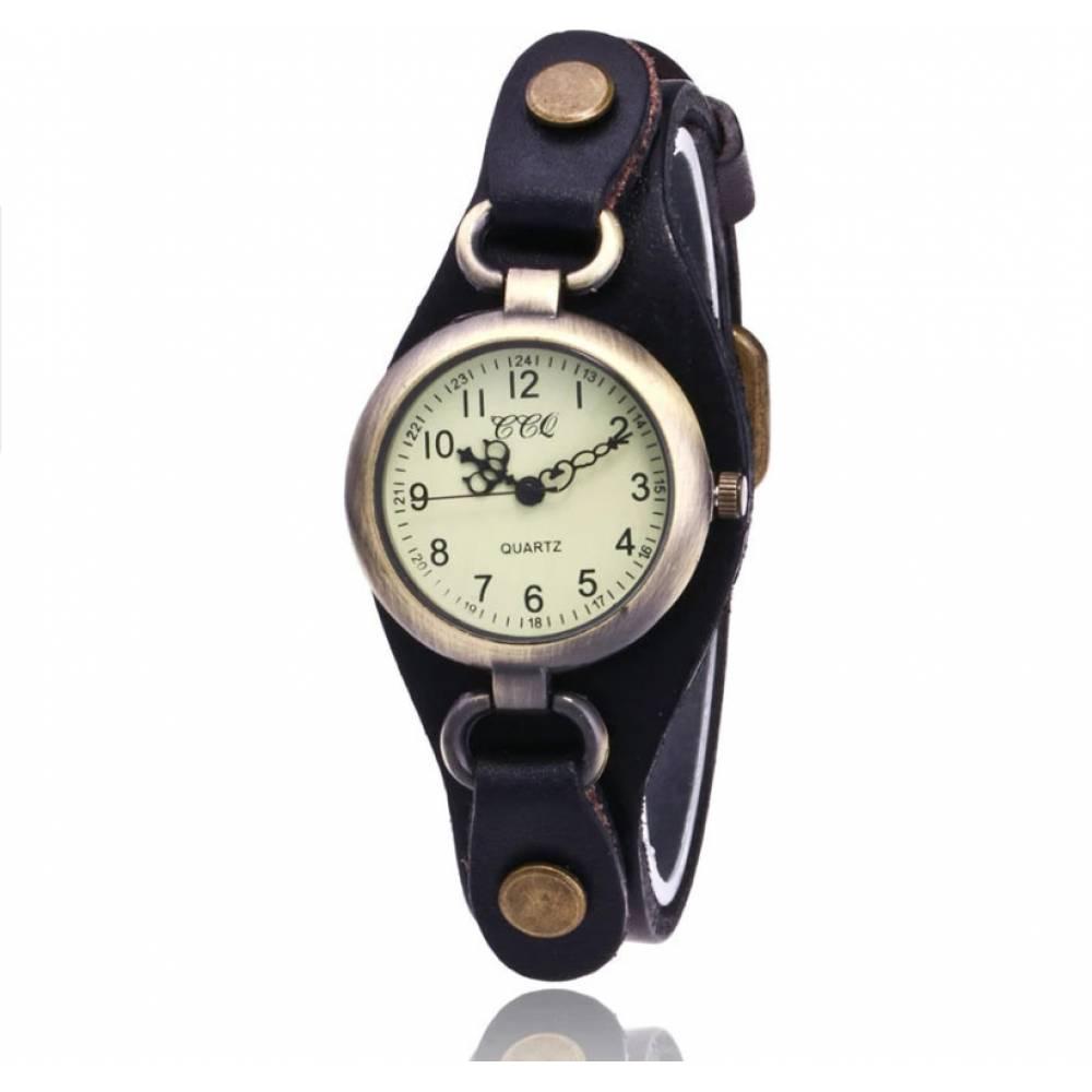 Женские Часы наручные CCQ, черные  3747
