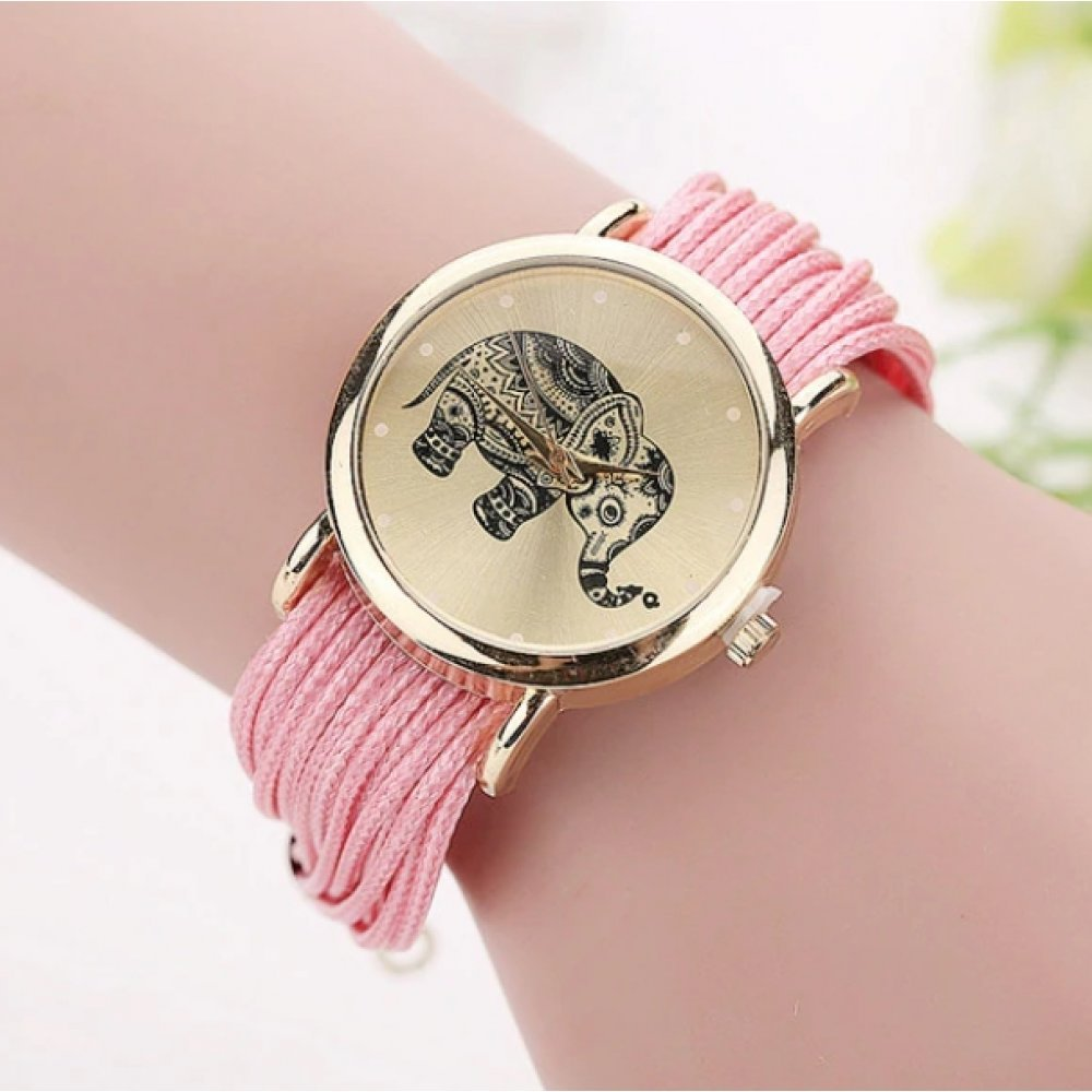 Женские Часы наручные CCQ, розовые  3748