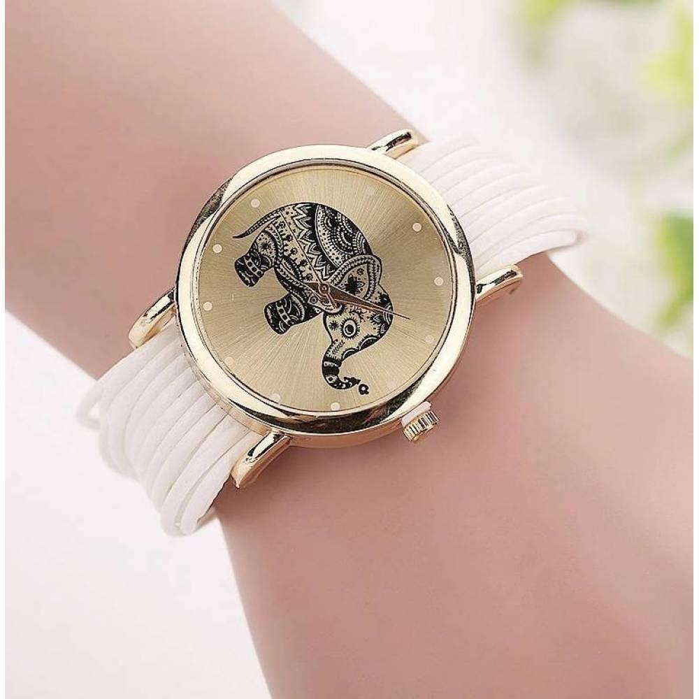 Женские Часы наручные CCQ, белые  3753