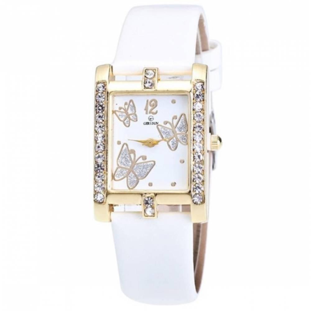 Женские Часы наручные Xiniu с бабочками, белые  3835