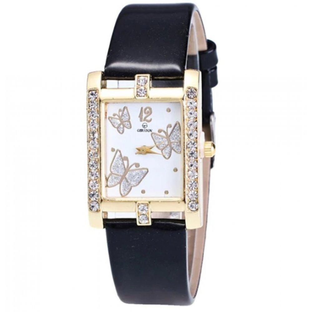 Женские Часы наручные Xiniu с бабочками, черные 3836