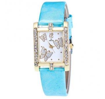Женские Часы наручные Xiniu с бабочками, голубые  3837