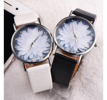 Женские Часы наручные Xiniu с цветком, белые  3839