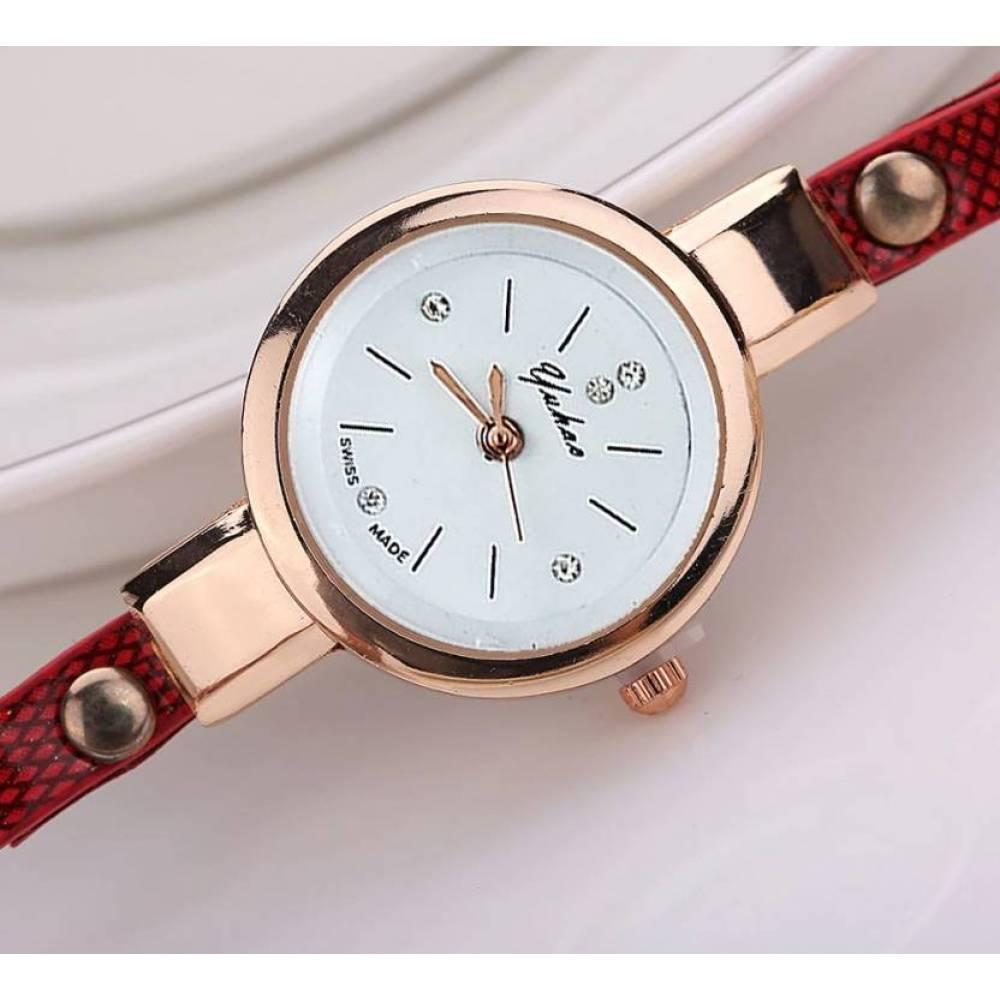Женские Часы наручные Susenstone, белые  3850