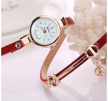 Женские Часы наручные Susenstone, золотистые  3851