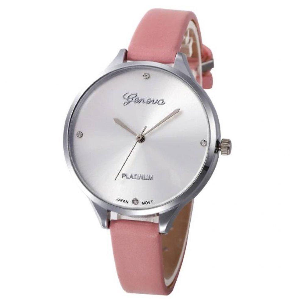 Женские Часы наручные Susenstone, розовые  3852
