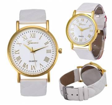 Женские Часы наручные Genvivia, белые  3857