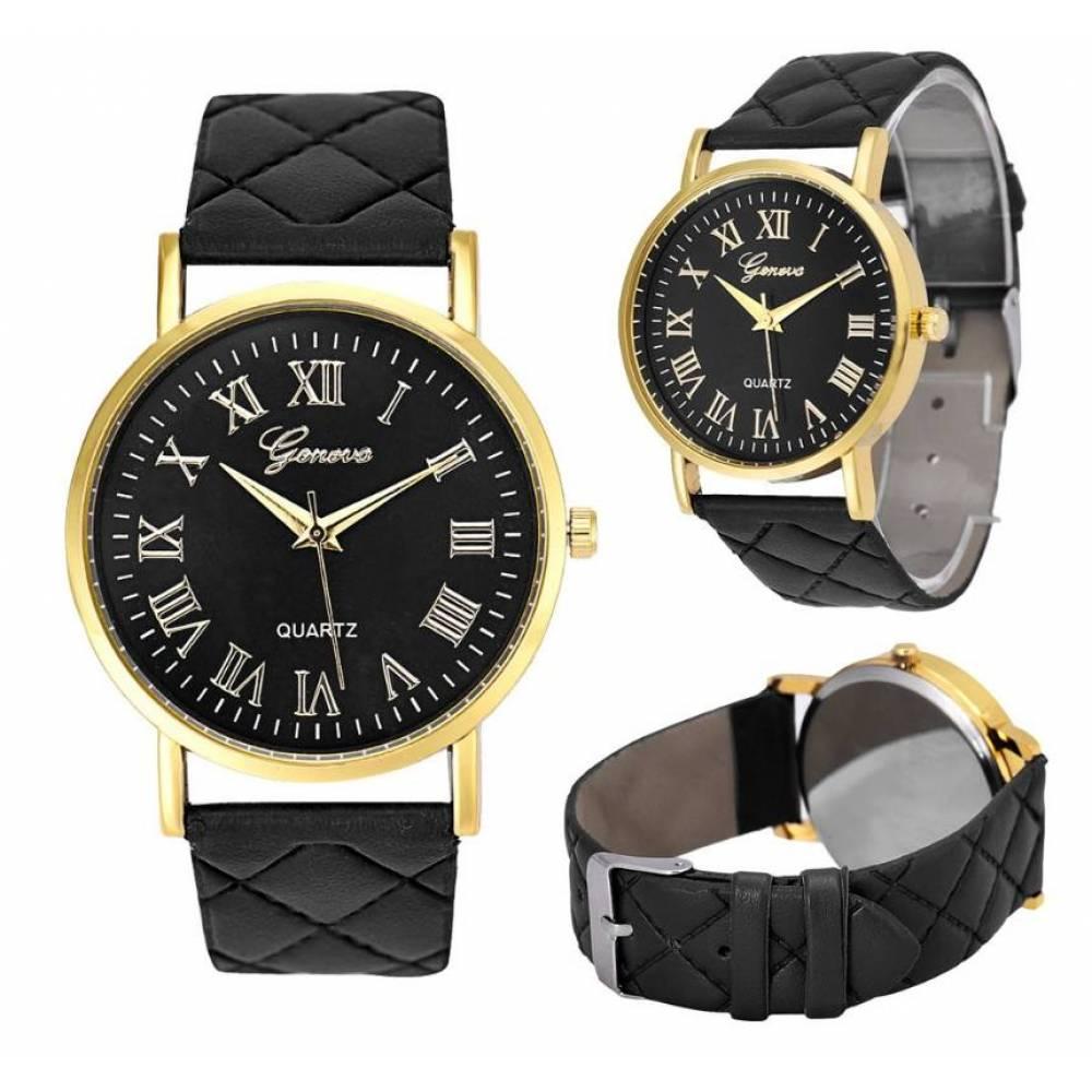Женские Часы наручные Genvivia, черные  3858