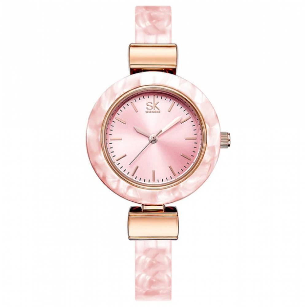 Женские Часы наручные SK, розовые  4001
